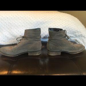 Steve Madden Grey suede combat boots